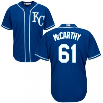 Replica Kansas City Royals Kevin McCarthy Majestic Cool Base Alternate Jersey - Blue